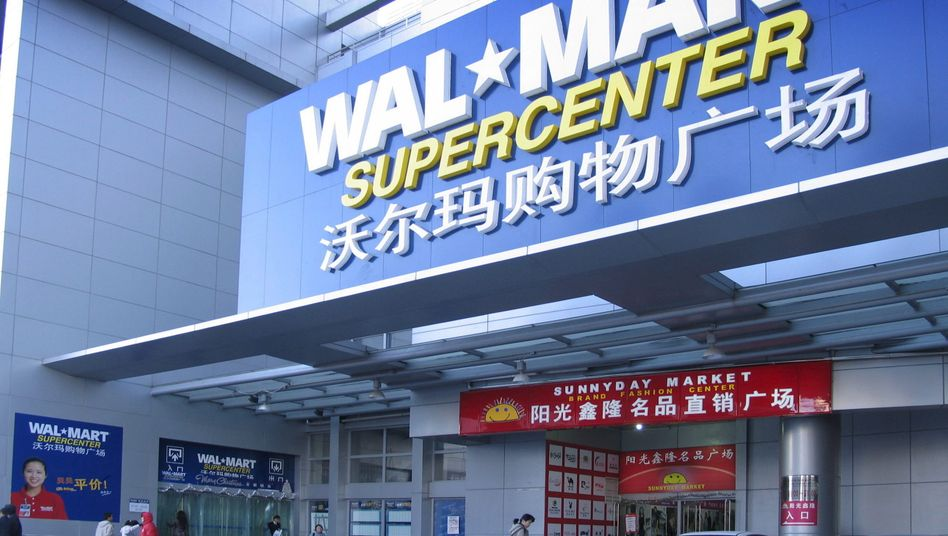Walmart in Peking: Experten taxieren den Anteil von China-Waren bei Walmart auf 70-90 Prozent - auch in USA
