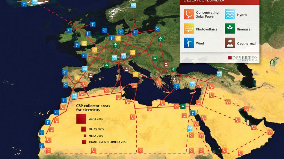 Geopolitische Energie-Vision: Sonne, Wind, Wasser, Biomasse und Erdwärme sollten die Stromversorgung Afrikas und Europas verbessern