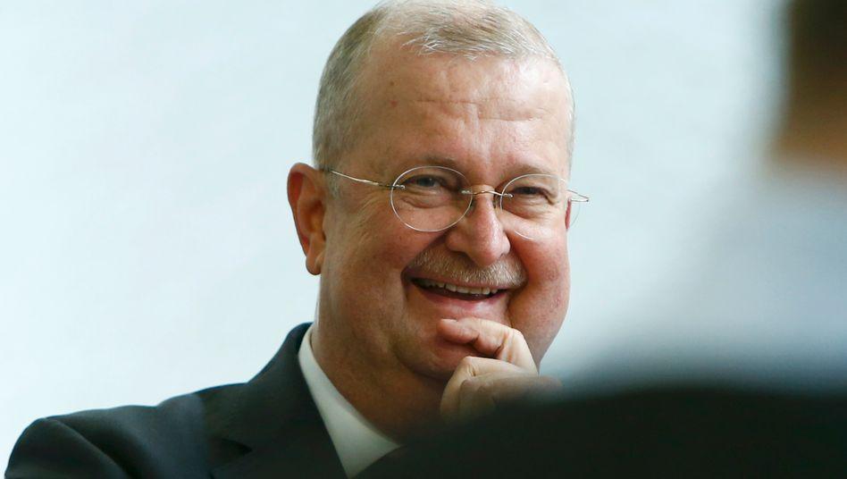 Wendelin Wiedeking, Ex-Porsche-Chef und Schuh-Unternehmer, am Tag seines Freispruchs am 18. März vor Gericht in Stuttgart.
