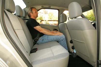 Fünf Plätze inklusive: Rückraum des Dacia Logan