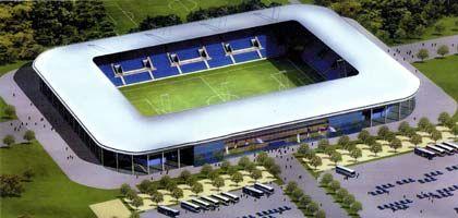 Ansicht des geplanten Fußball-Stadions: Die Arena soll 30.000 Sitze umfassen