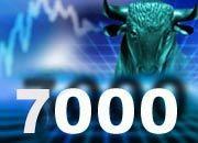 Börse Frankfurt: Der Aktienleitindex Dax hat die 7000-Punkte-Marke wieder weit hinter sich gelassen