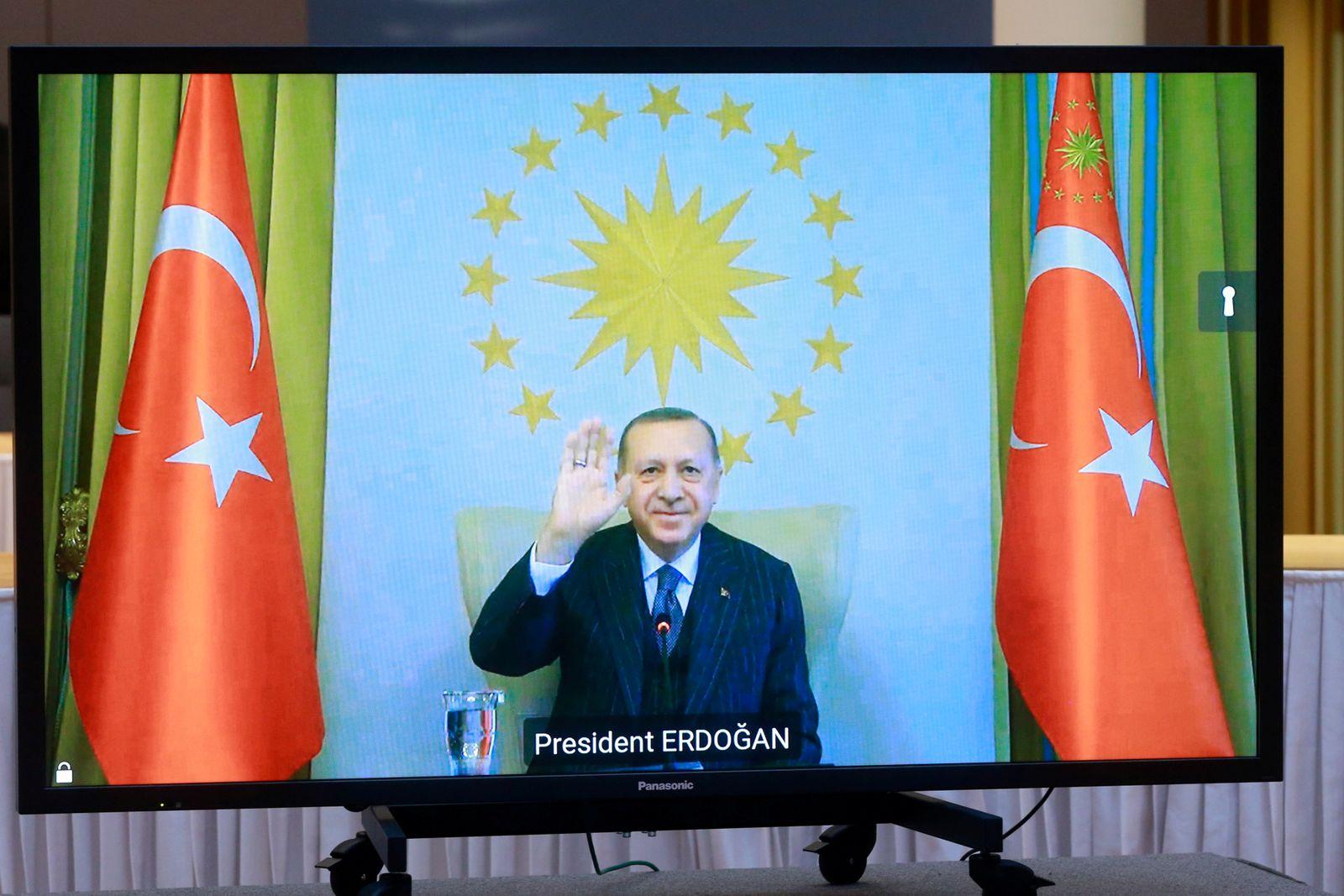 EU Commission President von der Leyen and EU Council President Michel hold video call with Turkey's President Erdogan