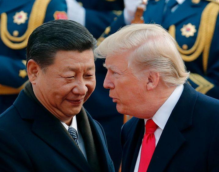 Deal - aber welches Lager profitiert? Xi Jinping (links) und Donald Trump (rechts).
