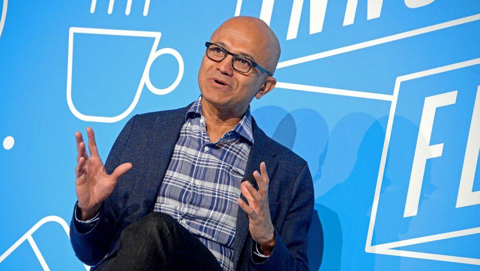 """Fordert mehr """"Datenwürde"""" für Anwender: Microsoft-Chef Satya Nadella"""