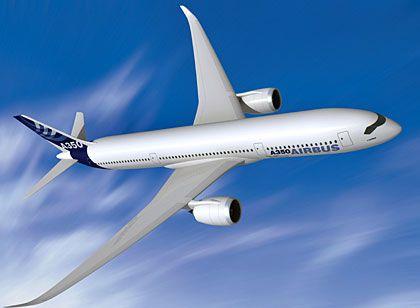 Entwicklung mit Staatsgeld: Die Staatsbank KfW könnte sich an der Entwicklung des A350 XWB beteiligen, signalisiert das Bundesfinanzministerium