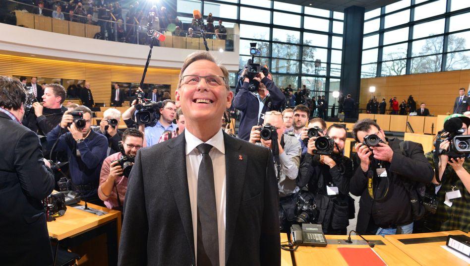 Erster Ministerpräsident der Linken: Bodo Ramelow im Erfurter Landtag