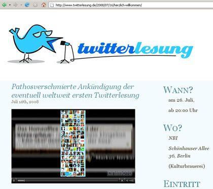 Twitter als Lesung: Wer zwitschert da von der Rampe?