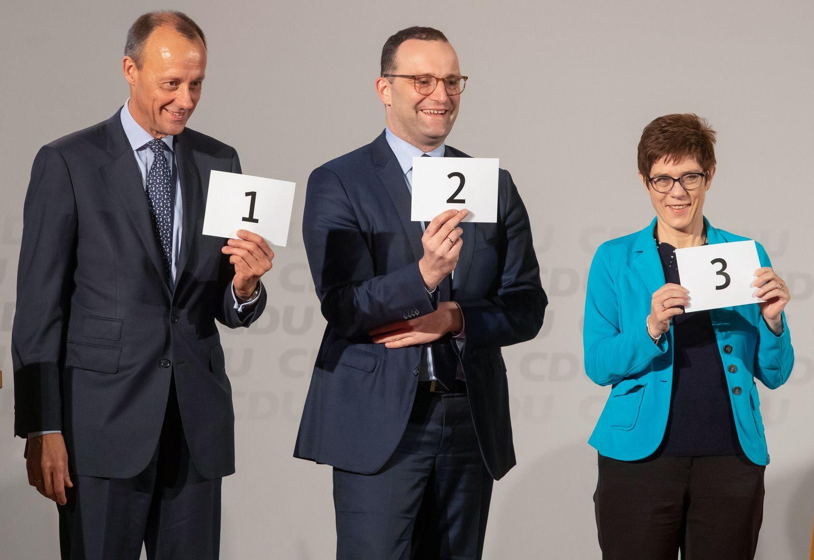 Friedrich Merz / Jens Spahn / Annegret Kramp-Karrenbauer