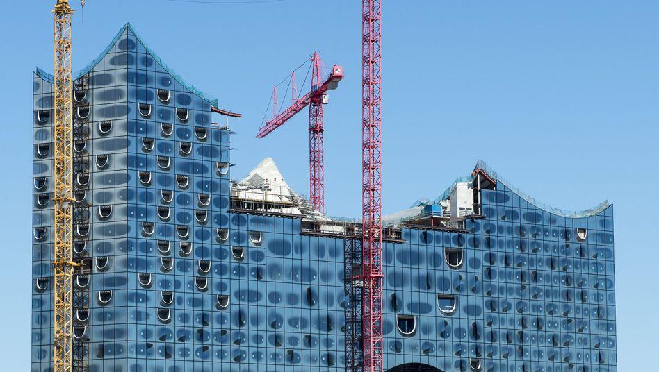 Melodien für Millionen: Die im Bau befindliche Elbphilharmonie in Hamburg