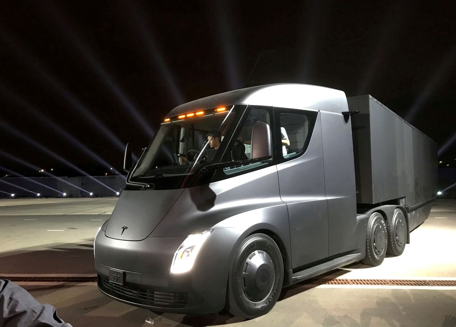FILE PHOTO: Tesla's electric semi truck is unveiled during a presentation in Hawthorne
