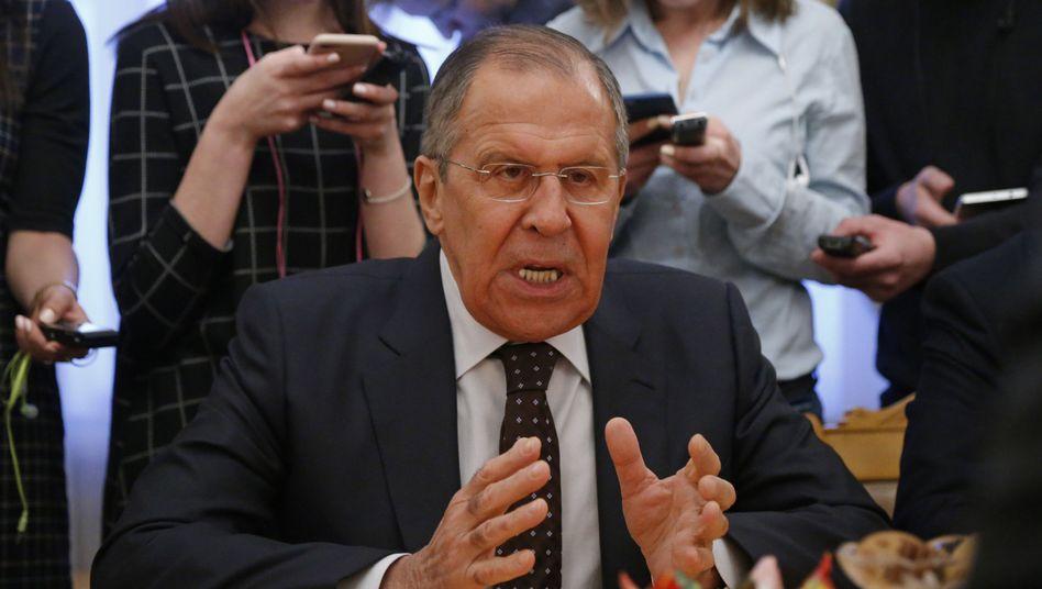 """Russlands Außenminister Lawrow: """"Schmutziger Versuch der britischen Behörden, Russland in Verruf zu bringen"""""""