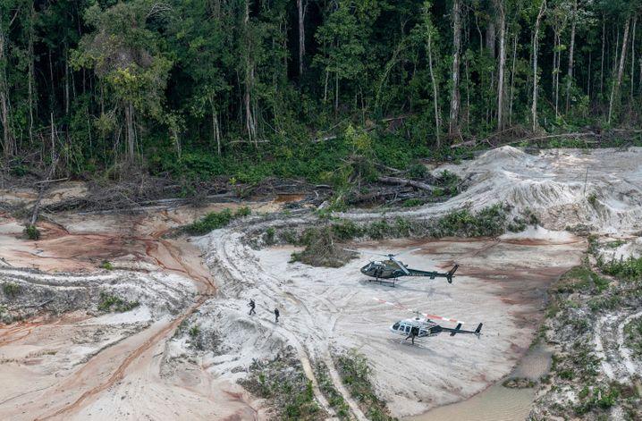 Aktion der Umweltbehörde Ibama gegen illegale Holzfäller (2018)