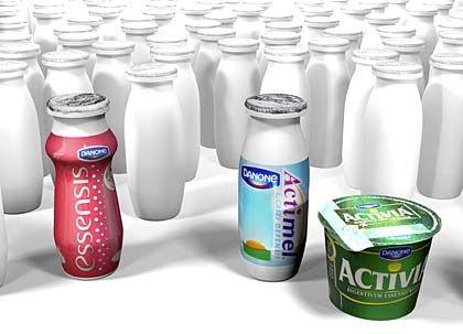 Gesund und schön: Mit Milchprodukten, die dies versprechen, hängt Danone seine Konkurrenten ab