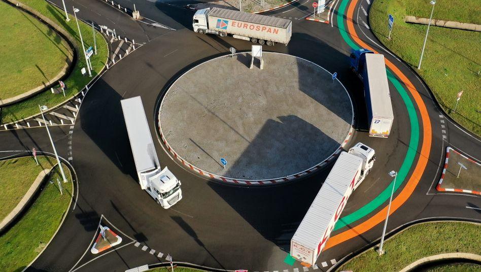 Eurotunnel-Terminal nahe Calais: Unternehmen werden sich an zahlreiche neue Regelungen im Handel mit Großbritannien gewöhnen müssen
