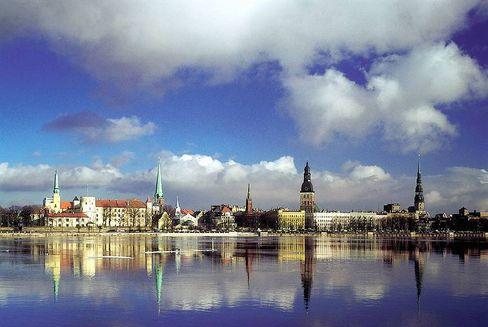Blick auf Riga: Das starke Wachstum der vergangenen Jahre war mit ausländischem Kapital gehebelt