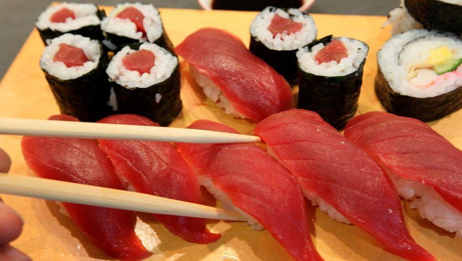 Sushi für Feinschmecker: Schon längst haben Essenslieferanten das schlechte Image abgelegt und liefern mehr als fetttriefende Pizza. Rocket Internet will hier den Markt aufrollen