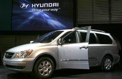 Modell Hyundai Entourageauf der Chicago AutoShow:Der koreanische Konzernsteckt in einer Korruptionsaffäre