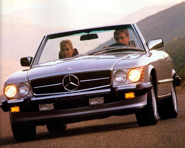 Der Mercedes 560 SL: Zu seinen Zeiten ein Statussymbol - künftig vielleicht zunehmend ein Sammlerstück