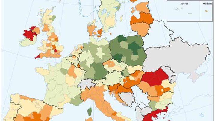 Der zerstückelte Kontinent: Die Ungleichheit Europas, illustriert in 12 Landkarten