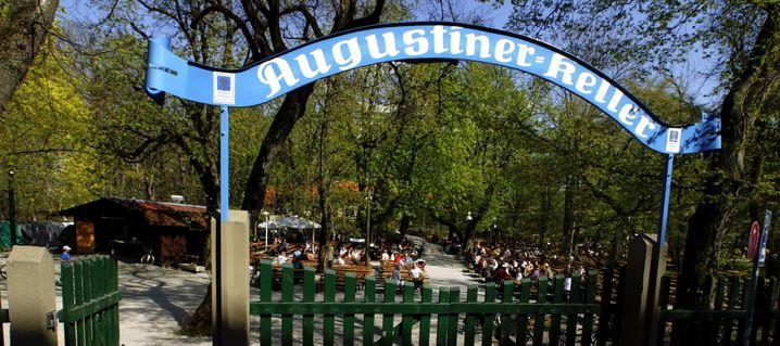 Frühlingserwachen im Augustinerbiergarten in München