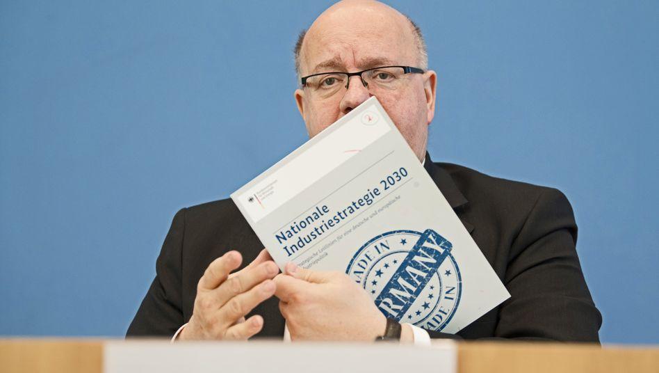 Nationale Industriestrategie: Peter Altmaier bei der Vorstellung seines Papiers