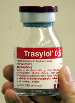 """""""Erhöhte Sterblichkeit"""":Bayer darf Trasylol nicht mehr verkaufen"""