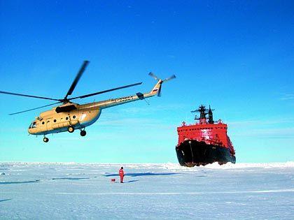 """Mit 75.000 PS durch die Arktis: Der Eisbrecher """"Yamal"""" fährt auch durch zwei Meter dicke Eisschichten"""