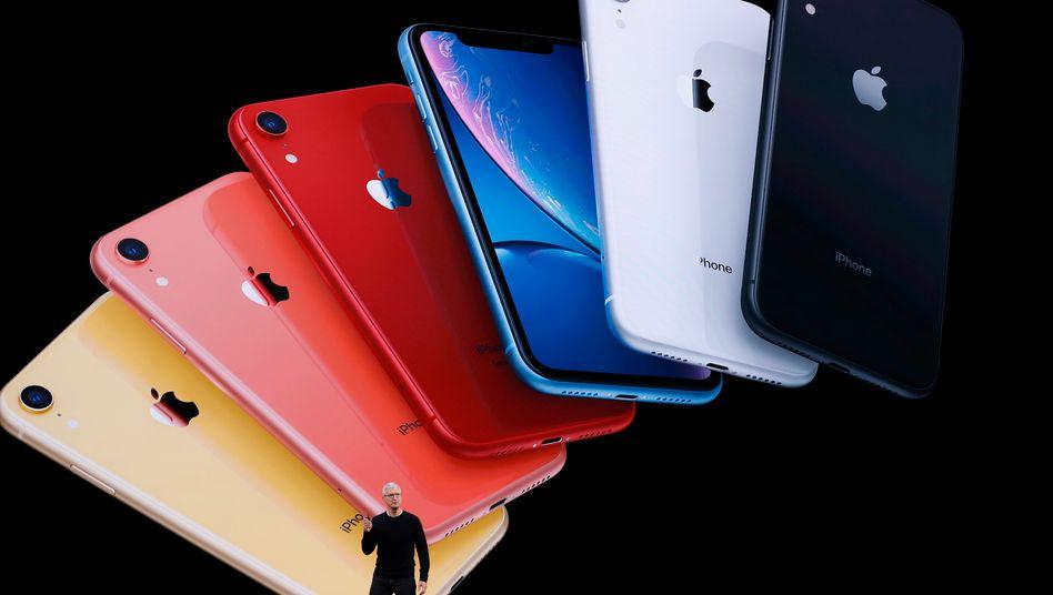 Apple-Chef Tim Cook bei der Präsentation des iPhone 11 im September 2019