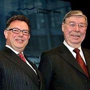 Auf Partnersuche: Börsenchef Francioni (l.) und Aufseher Viermetz