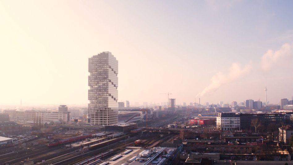 Edge East Side Berlin: So sollte der neue Amazon-Turm eigentlich aussehen - doch nun gibt es Ärger mit der Stadt