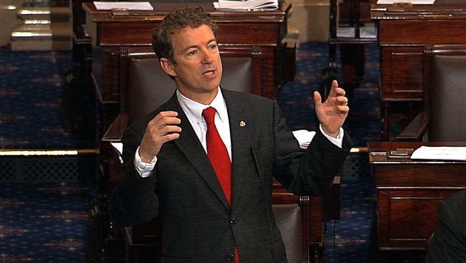 Filibuster gegen Ernennung des designierten CIA-Chefs: US-Senator Rand Paul redet und redet