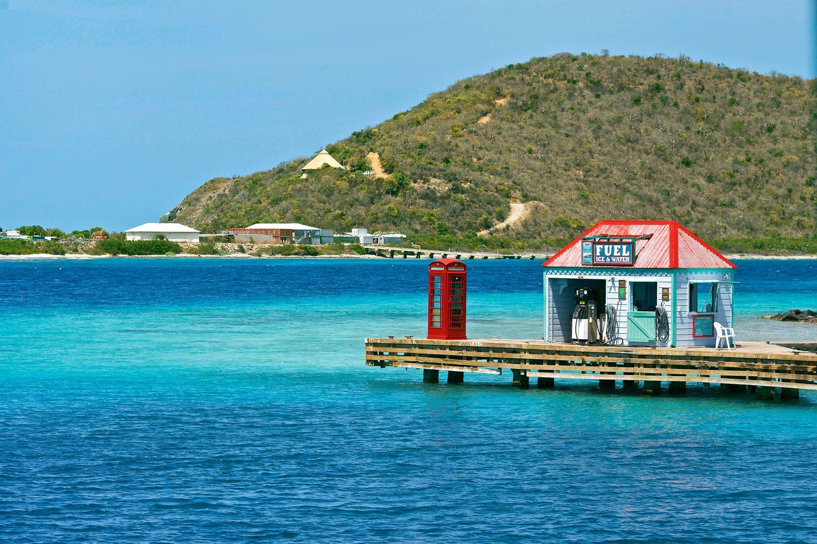 EINMALIGE VERWENDUNG Marina Cay / Britische Jungferninseln