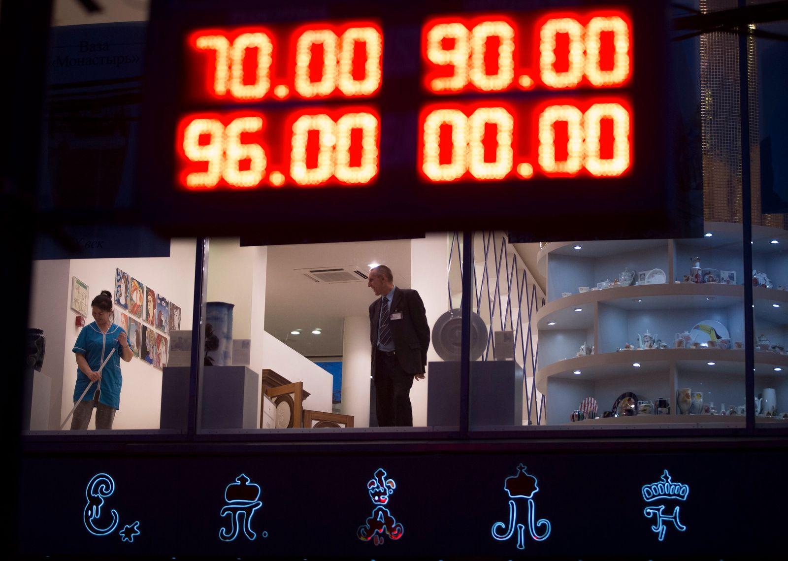 Moskau/ Rubel/ Panik