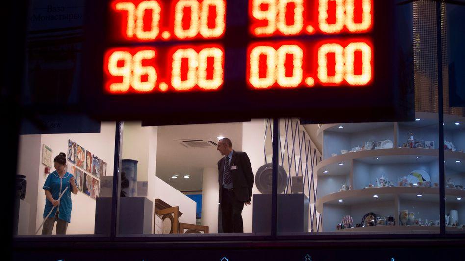 Shop in Sankt Petersburg: Die Wechselraten für ausländische Devisen sind in die Höhe geschnellt