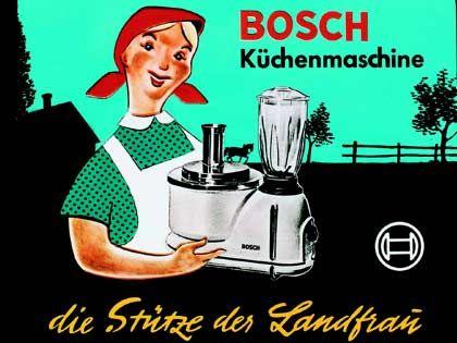 Starke Tradition: Kinoreklame für die Bosch-Küchenmaschine aus dem Jahr 1954