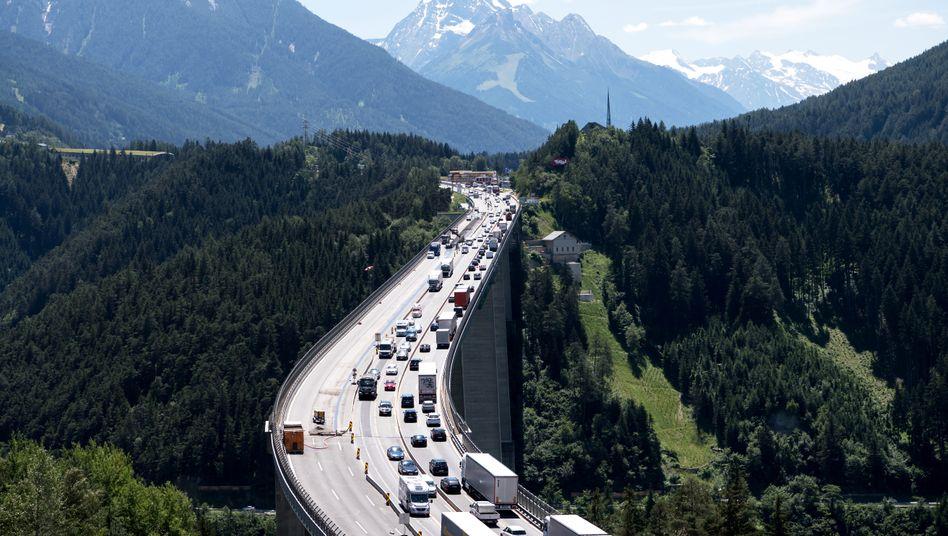 Stau auf der Brenner-Autobahn
