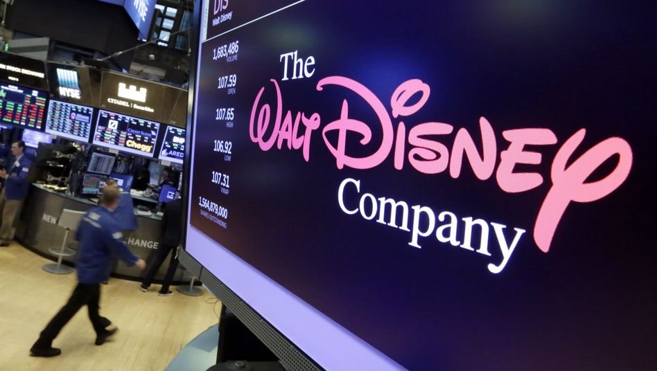 Disney-Logo an der New Yorker Börse: Die Aktie verlor nachbörslich 3,8 Prozent
