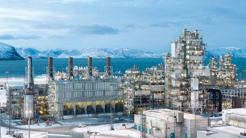 Winter is coming: Die Gasverflüssigungsanlage Snøhvit nahe dem nordnorwegischen Hammerfest liegt seit Oktober 2020 still