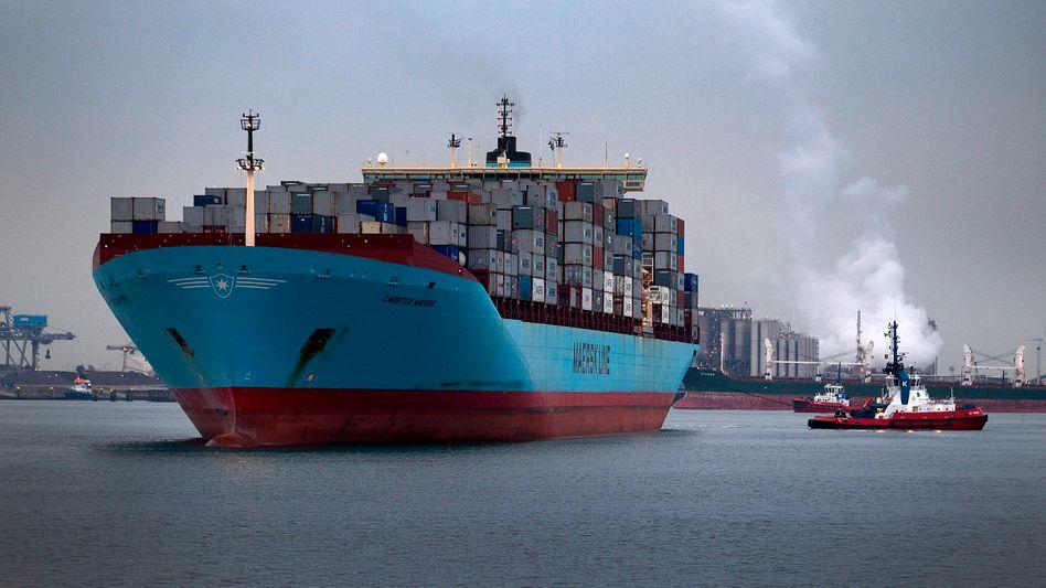 Containerschiff: Deutsche Unternehmen exportierten im September Waren im Wert von 95 Milliarden Euro