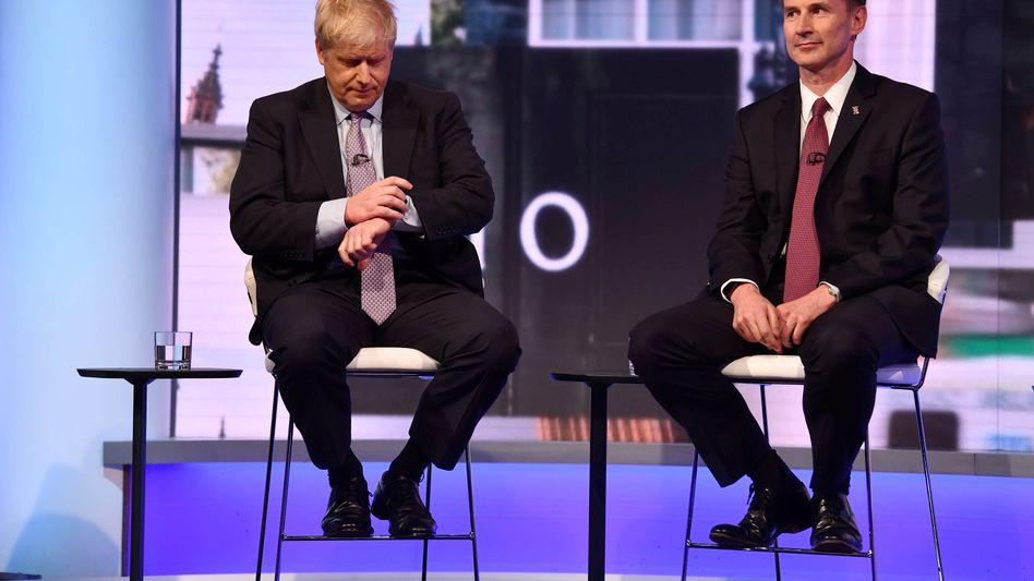 Boris Johnson, Jeremy Hunt: Bei der letzten Abstimmung der Tories stand es 160 zu 77. Es gilt als unwahrscheinlich, dass Hunt bis Ende Juli noch an Johnson vorbeizieht