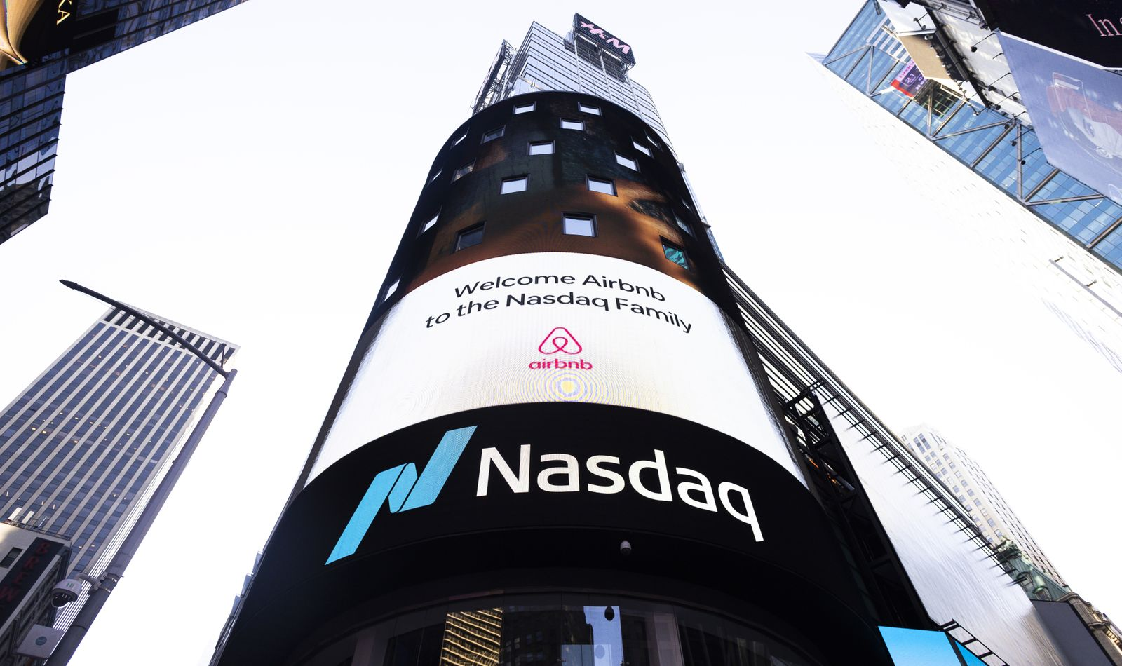Airbnb IPO in New York, USA - 10 Dec 2020