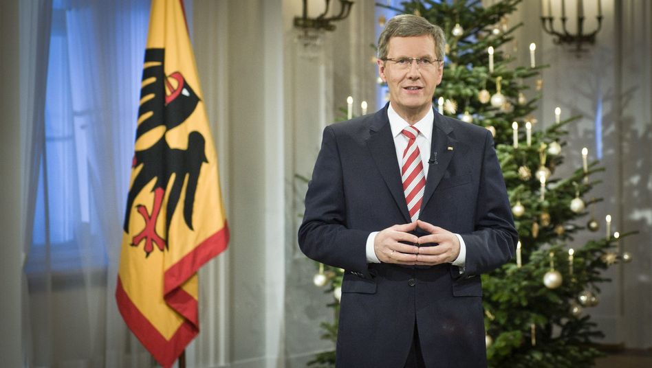 Christian Wulff bei der Weihnachtsansprache: Essen im Interesse von Niedersachsen