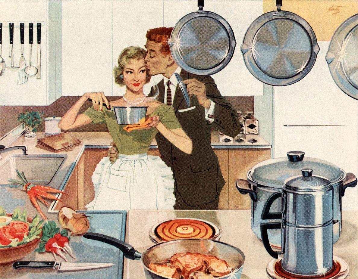 NICHT MEHR VERWENDEN! - Herd / Hausfrau / Küche in den 50er Jahren