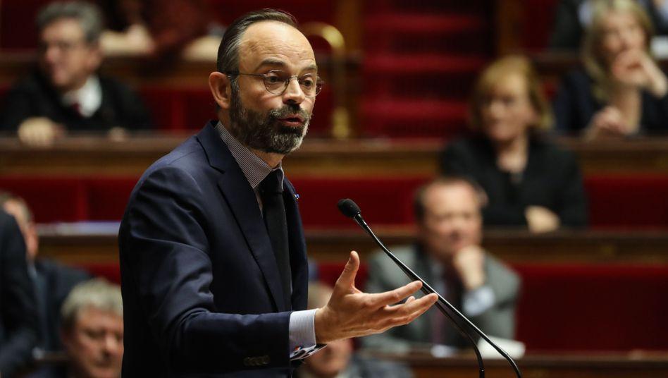 Premierminister Edouard Philippe in der Nationalversammlung