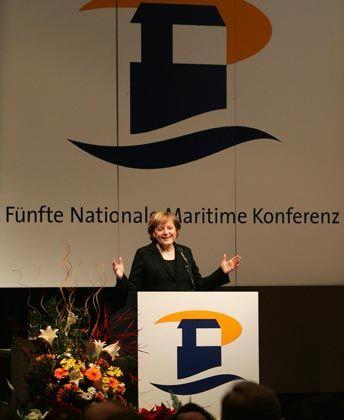Bekenntnis zur Tonnagesteuer: Kanzlerin Merkel
