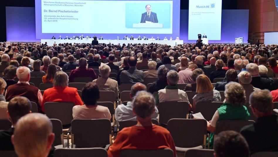80 ist das neue 100: Die Ära ruhiger Hauptversammlungen (hier Munich Re) ist vorbei