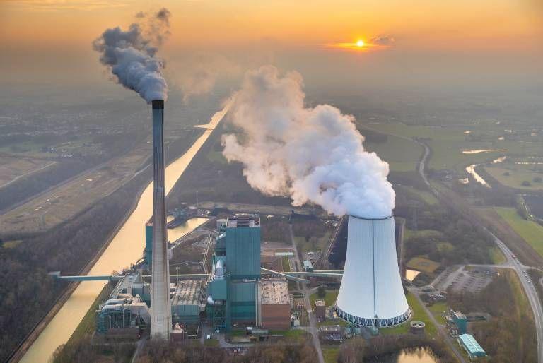 Luftbild Gemeinschaftskraftwerk Bergkamen RWE Kohlekraftwerk am Datteln Hamm Kanal in Bergkamen in
