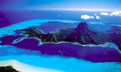 Spektakulär: Bora Bora aus der Luft