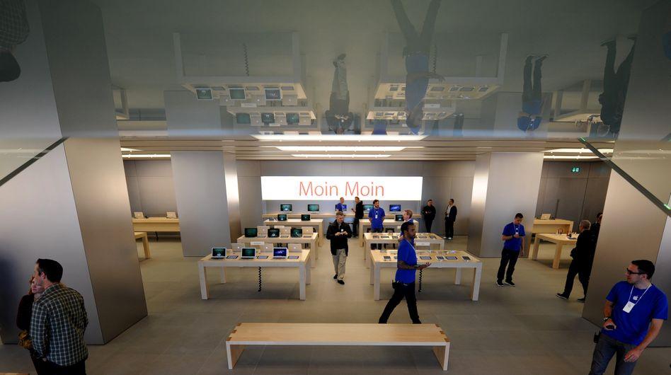 Apple-Store am Jungfernstieg in Hamburg: Münchener Filiale hat Betriebsrat gegründet